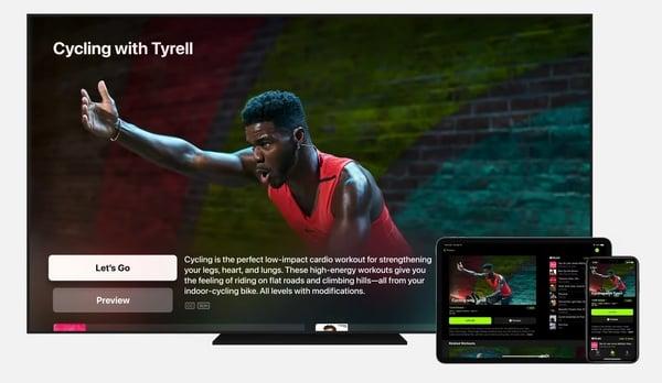 apple fitness+ utilizzato sul tv e sull'iPad