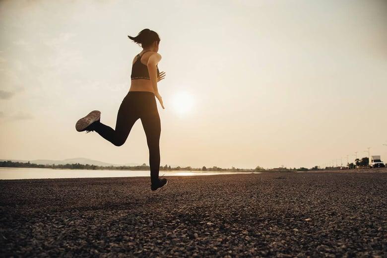 atleta che corre